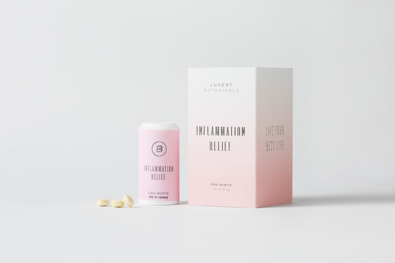 Inflammation Relief CBD Mints packaging
