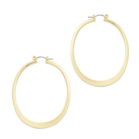 Big Gold Hoop Earrings - Shiny Gold - Earrings