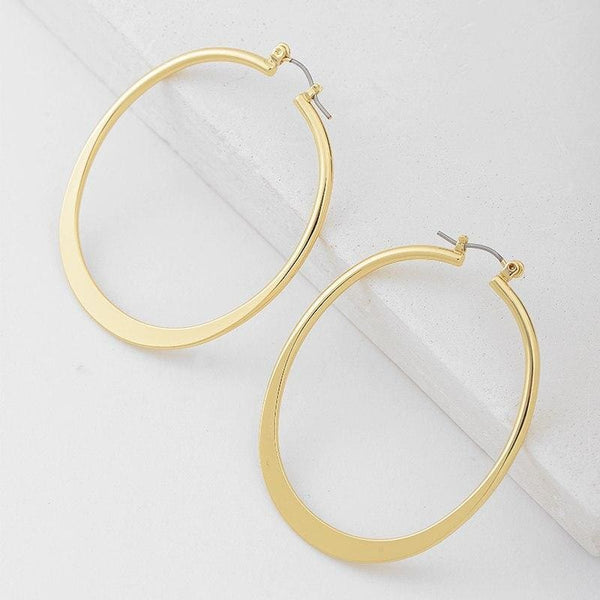 Big Gold Hoop Earrings - Earrings