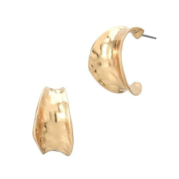Bold And Gold Hoop Earrings - Earrings