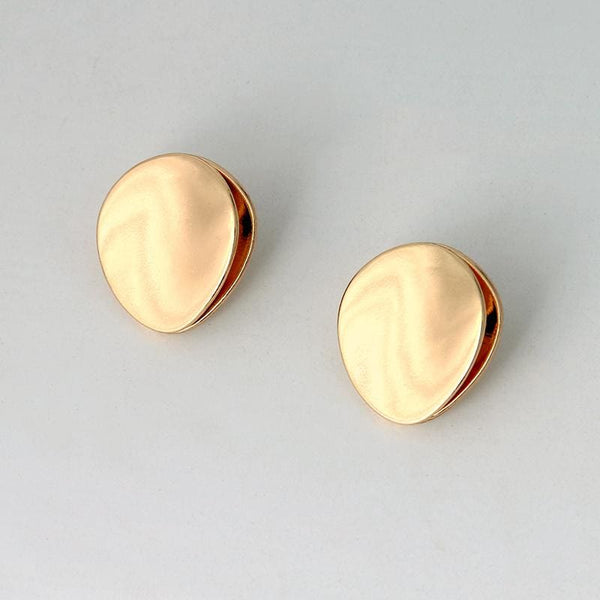 Button Stud Earring - Earrings