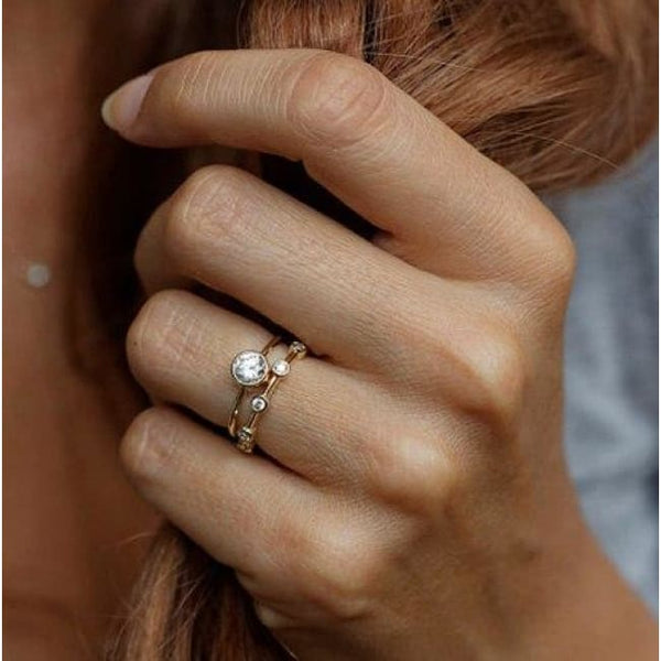 Diamond Line Ring - Ring