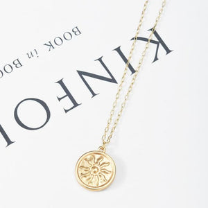 Engraved Pendant Necklace - Necklace