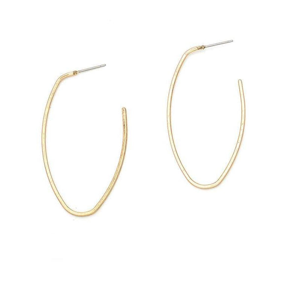 Geometric Hoop Earrings - Earrings