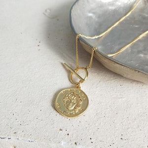 Gold Coin Pendant Necklaces