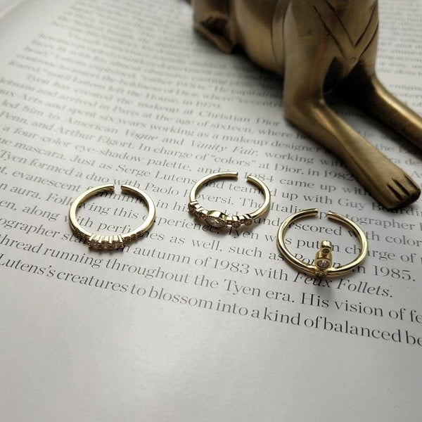 Gold Cubic Zirconia Rings - Ring