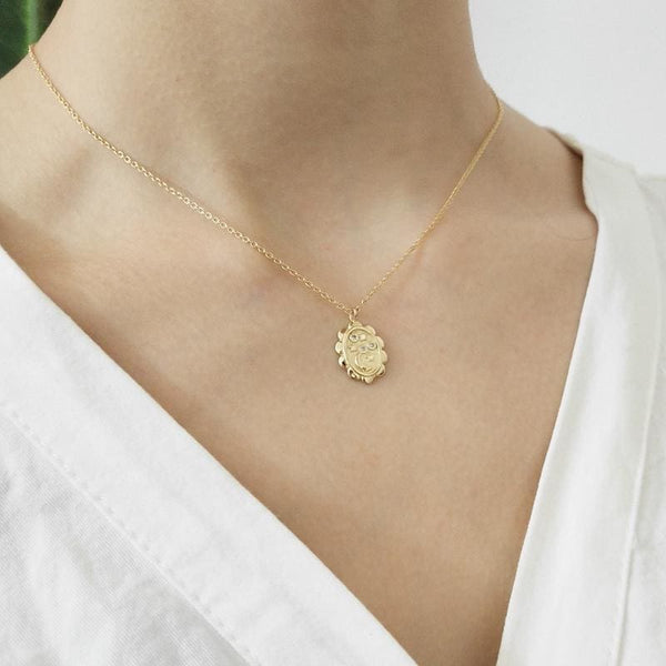 Lucky Star Gold Pendant Necklace - Necklace