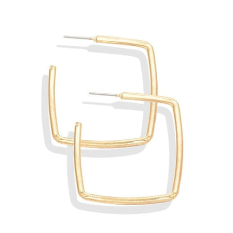 Square Hoop Earrings - Earrings