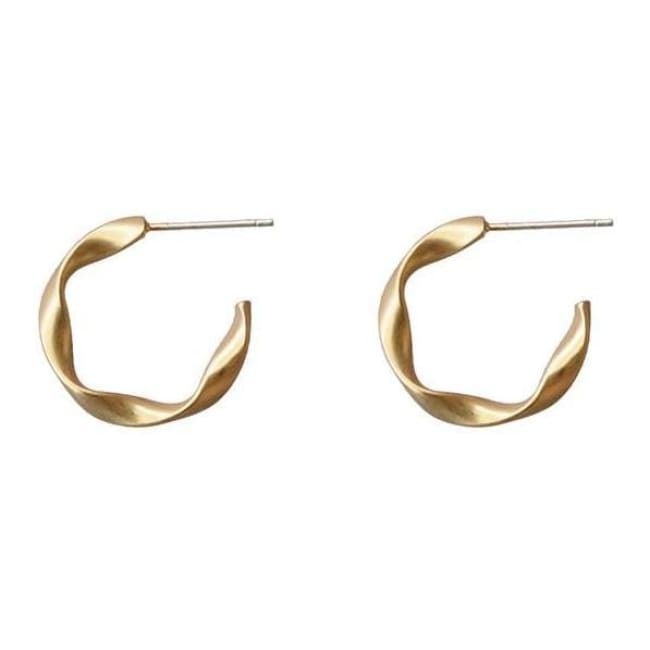 Twisted Hoop Earrings - Earrings