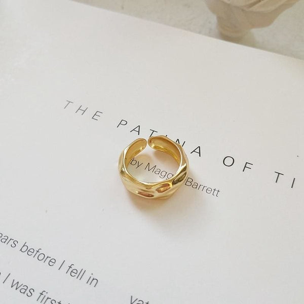 Wave Gold Ring - Ring