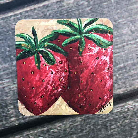 Strawberry Coasters