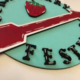 Strawberry Festival Round (Walk-In Painting)