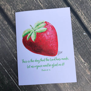 Strawberry Notecards