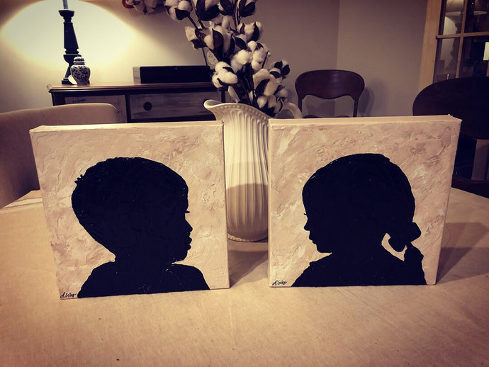 Silhouette painting