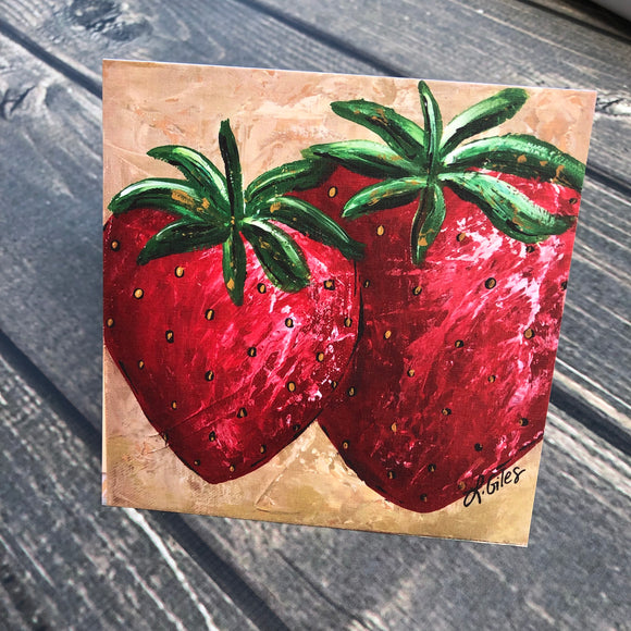 Strawberry Square Cards