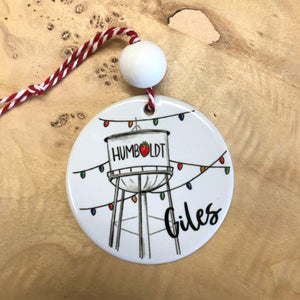 Humboldt Water Tower Round Ornament