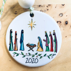 Nativity Round Ornament