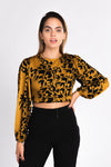 Cheetah print open back crop top, double tie back cheetah print top, animal print, fall fashion trends 2018, exaggerated sleeves, fall crop tops