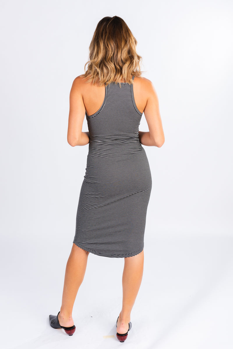 Ribbed Racerback Midi Dress