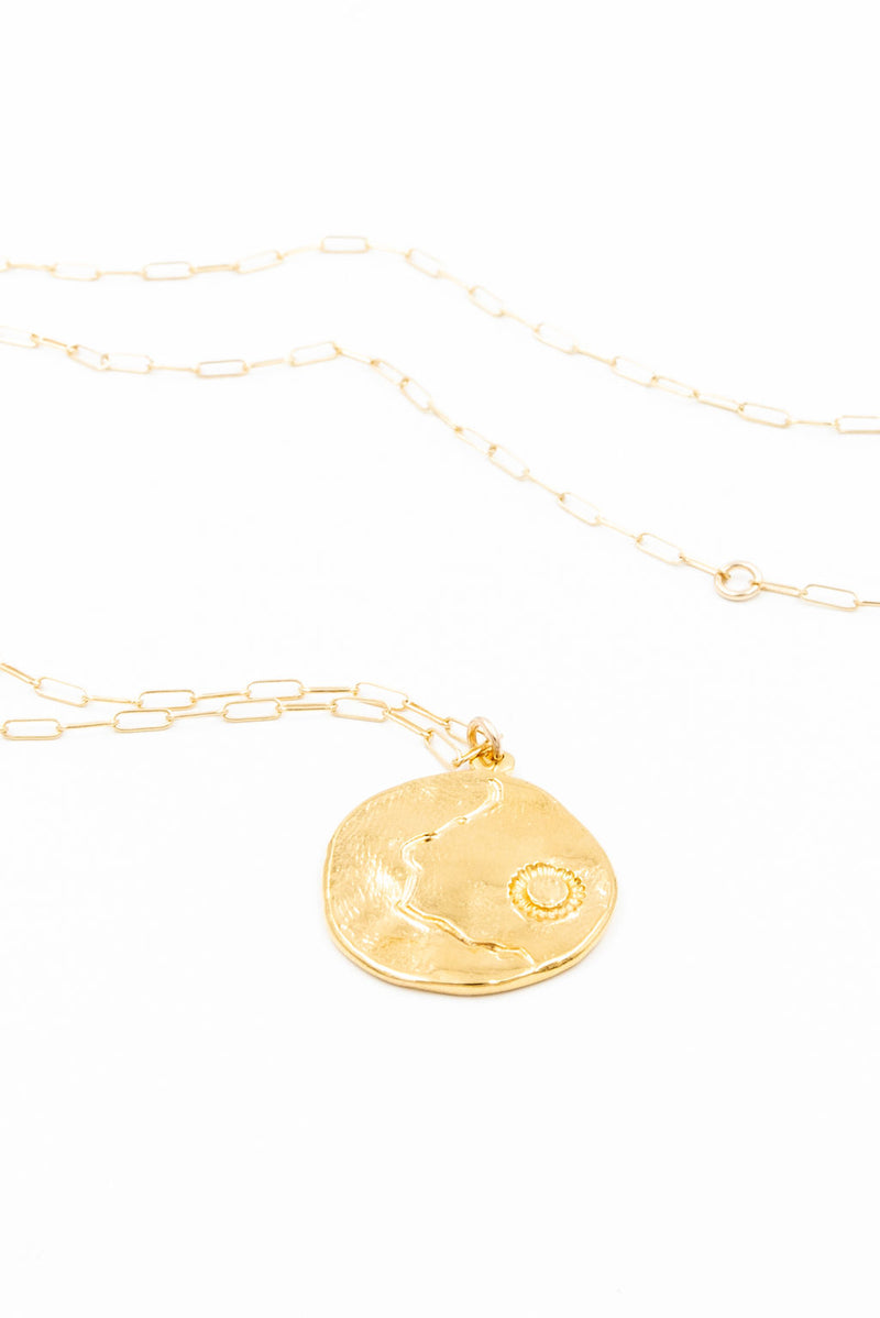 coin necklace, gold coin necklace, handmade jewelry, coin pendant necklace, la weez jewelry, 14k gold filled chain