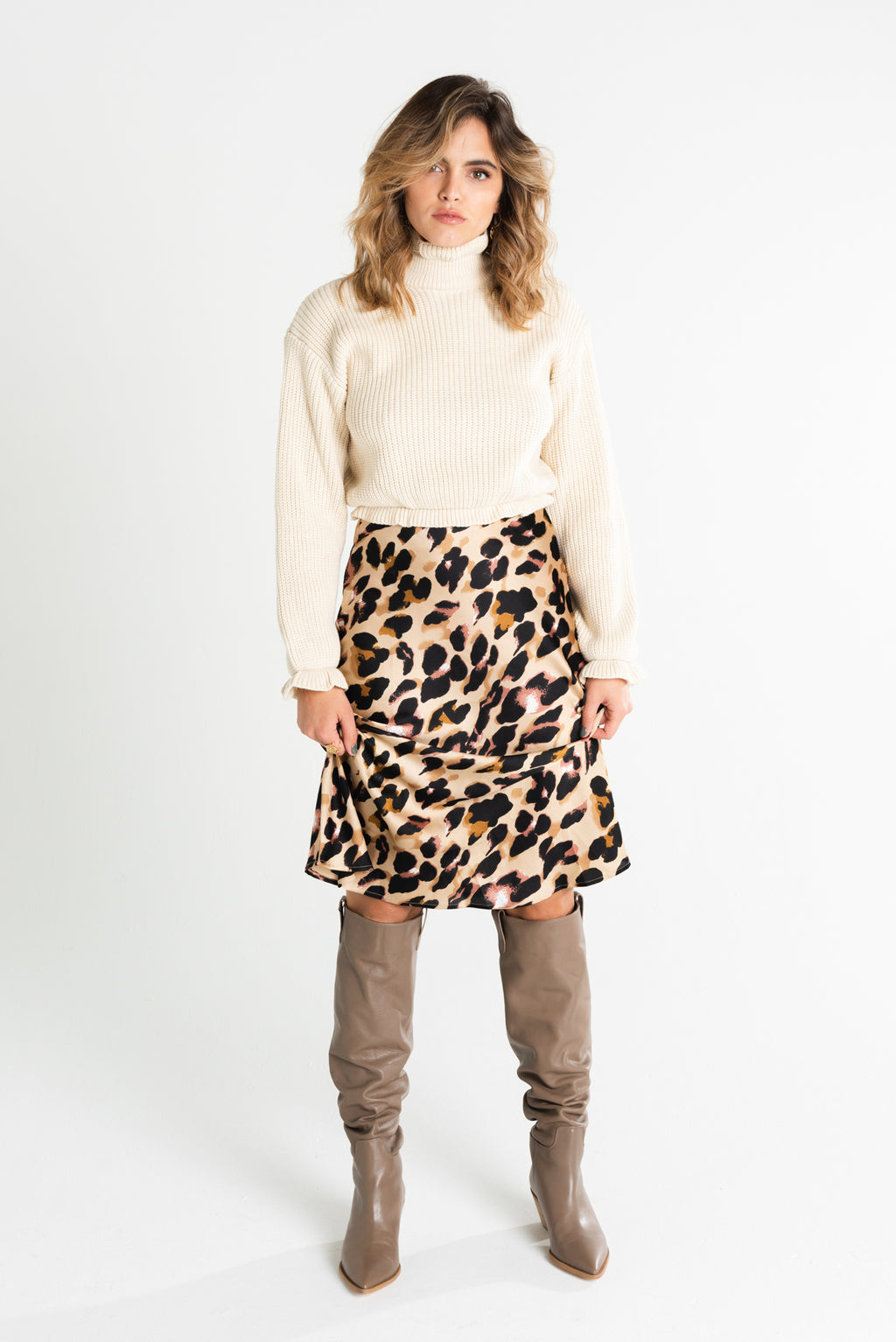 Not Your Average Leopard Midi Skirt