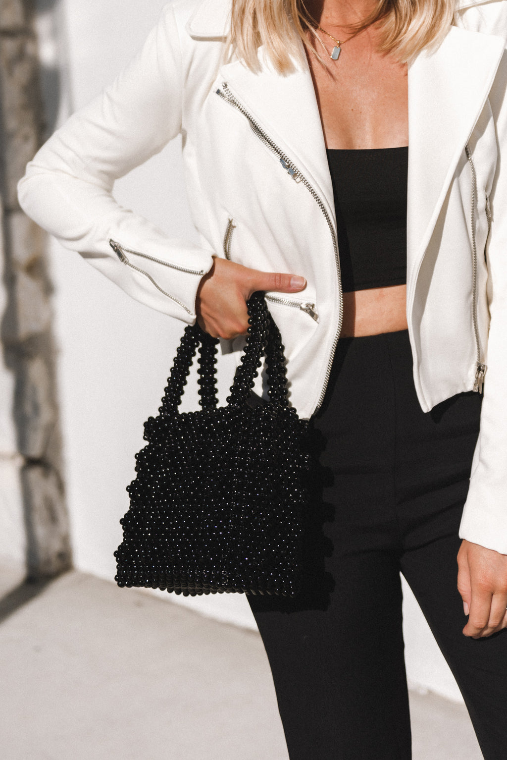 Noir Bead Bag