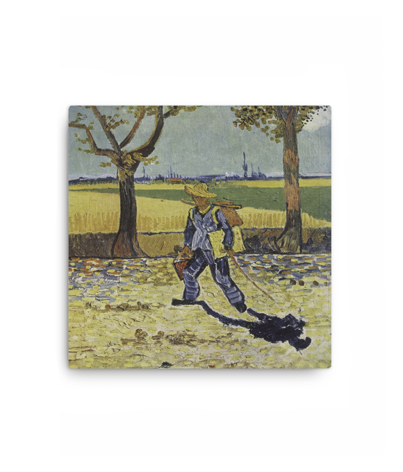 Z Art The painter on his way to work canvas prints