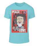 Original and thought provoking t-shirt with a message - Peace and Love