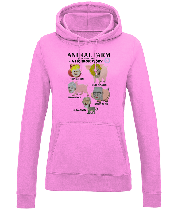 Girlie College Hoodie - Animal Farm (the new breed)