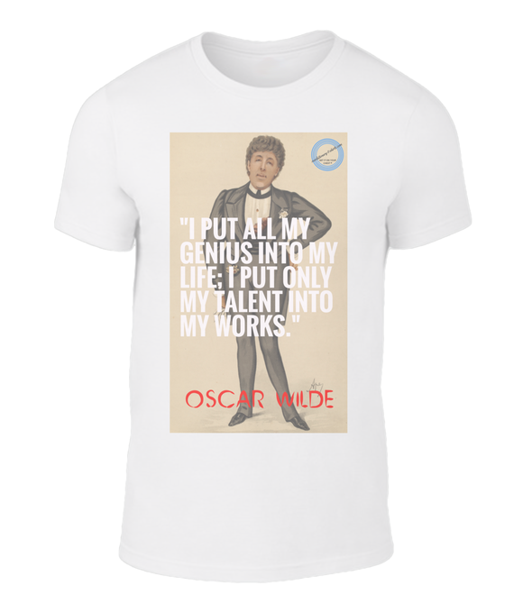 Outstanding t-shirt featuring Oscar Wilde - Genius