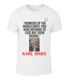 Father of socialism on a cool t-shirt: Karl Marx - Unite
