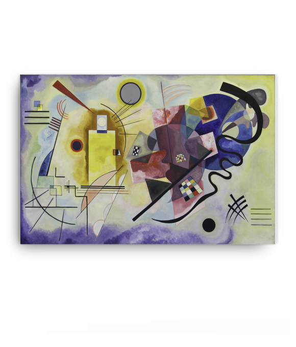 Z Art Jaune Rouge Bleu canvas prints