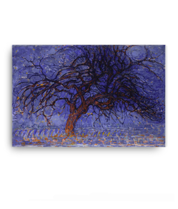 Z Art Evening: The red tree canvas prints