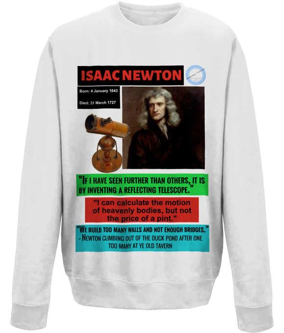 Homage to a genius long sleeve t-shirt - Isaac Newton