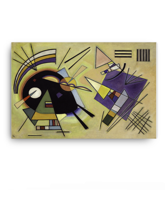 Z Art Black and violet canvas prints