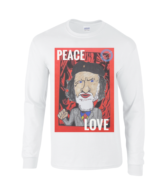 Men's long sleeve t-shirt - Peace and love