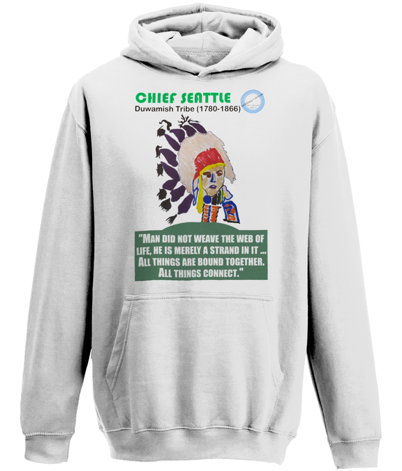 AWD Unisex College Hoodie - Chief Seattle, web of life