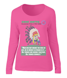 Ladies long sleeve t-shirt - Chief Seattle, web of life