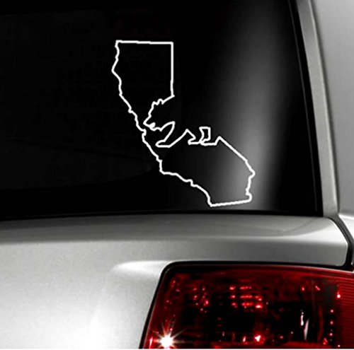 Cali / California Bear and State Vinyl Decal Sticker - 4