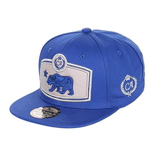California Bear Special Grey Embroidered on Royal Blue Hat