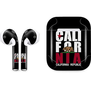 California Black Block Skin for Apple AirPods 2