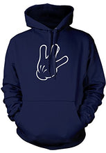 Load image into Gallery viewer, Men's Cartoon Glove Hand West Side Sign Hooded Sweatshirt