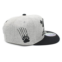 Load image into Gallery viewer, Embroidered California Republic With Bear Claw Scratch Snapback