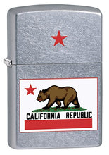 Load image into Gallery viewer, Zippo Lighter: California State Flag - Street Chrome