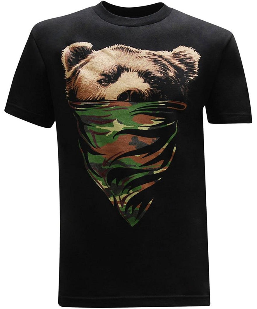 California Camo Bandana Bear T-Shirt