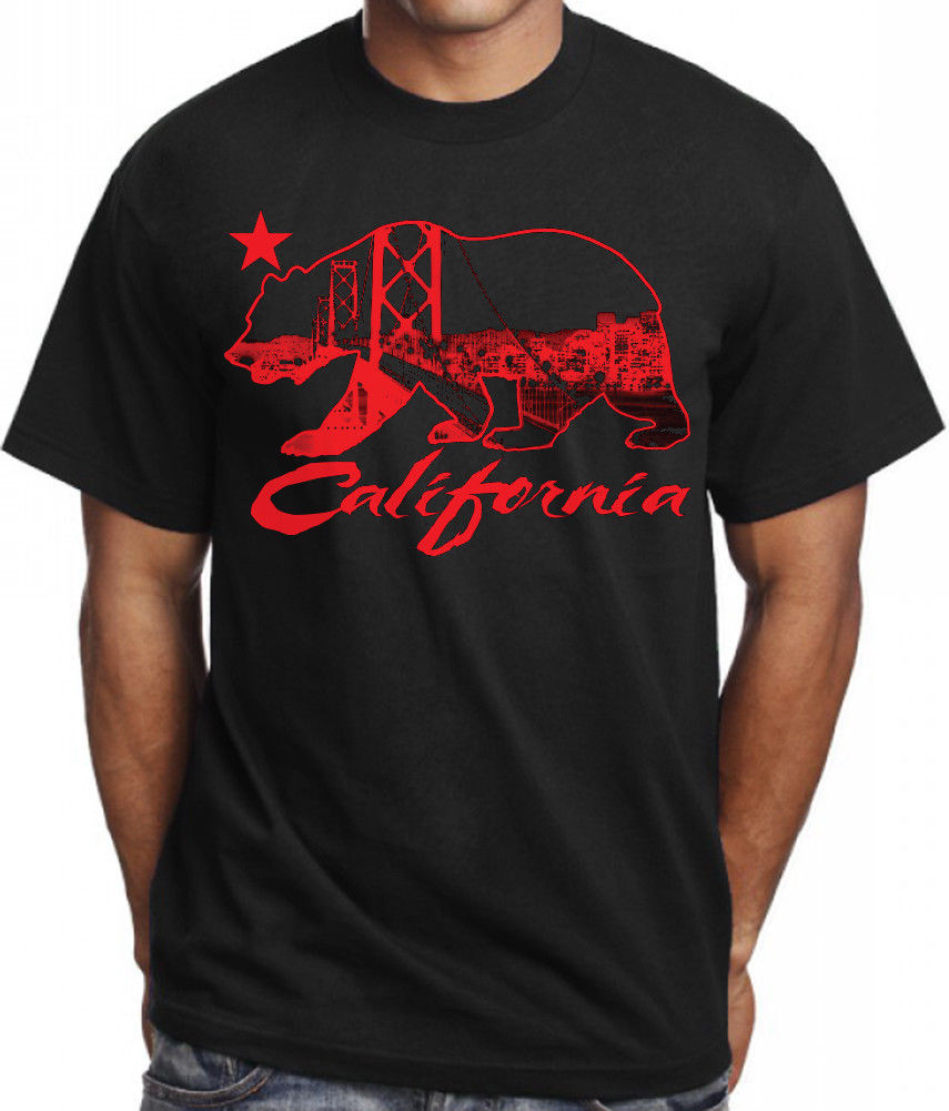 California Bay Area Bridge Skyline Casual T-Shirt
