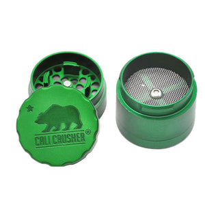 HORENT Cali Crusher 2.0 Aluminum Smoking Weed Grinder Pocket 1.65 Inches 4 Piece Sharp Diamond Teeth Metal Tobacco Herb Grinders