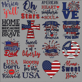 Patriotic Graphic Tees- FAMILY PACK of 6 with Adult Sizes