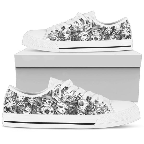 DAY OF THE DEAD | LOW TOP | mens canvas sneakers