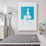 CYAN ON WHITE | canvas print